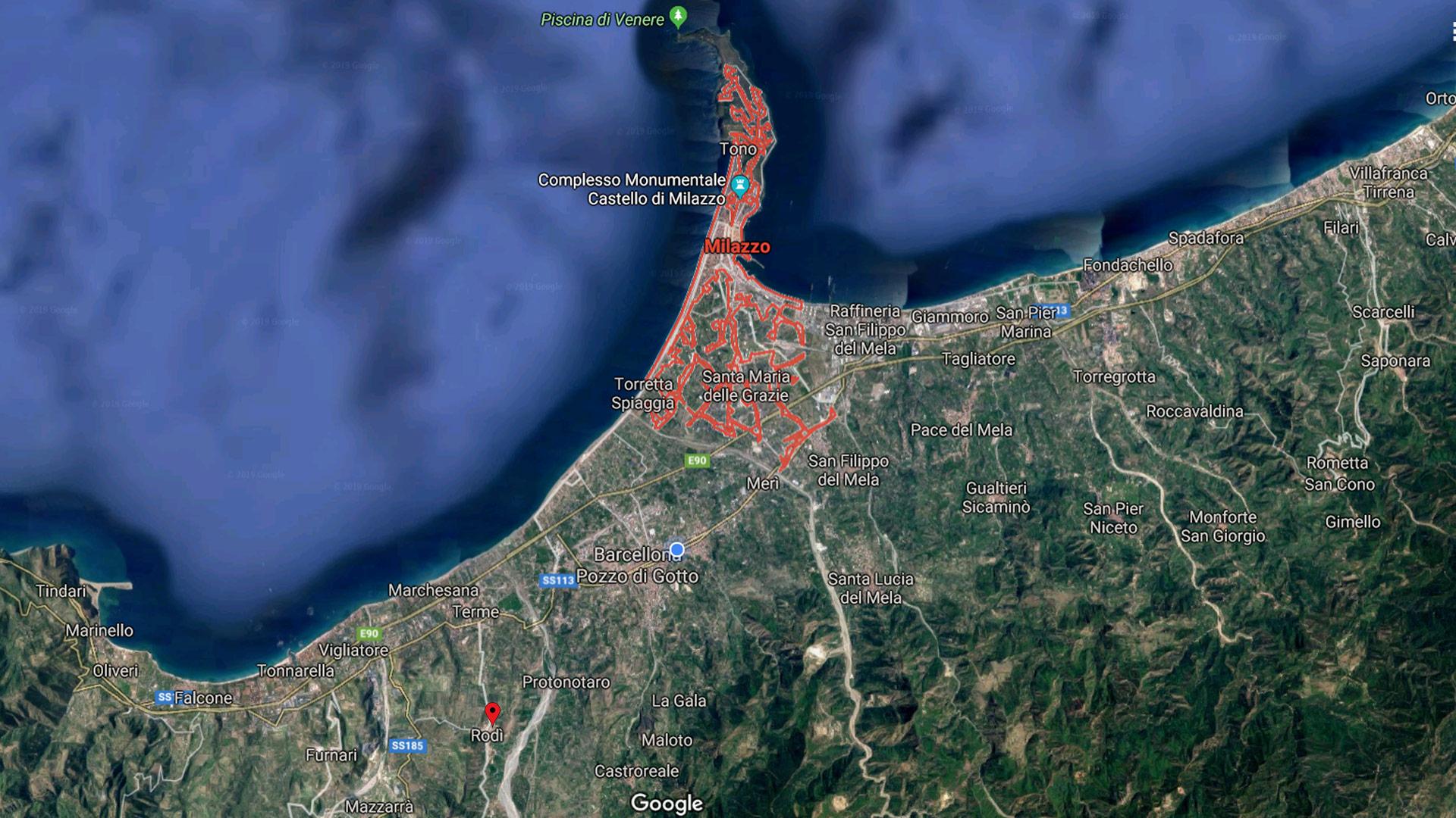 Milazzo taxi Rodi Barcellona Messina Catania